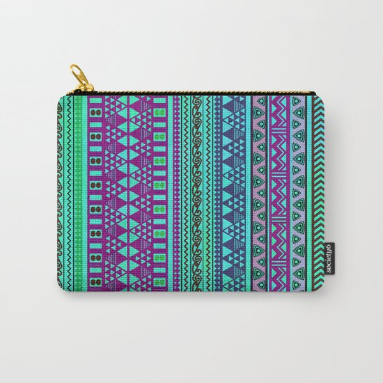 Inspired Aztec Pattern 4 Carry-All Pouch