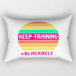 Keep Training Black Belt Martial Arts Lovers BJJ Submissions Rectangular Pillow