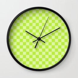 Citrus Checkerboard Wall Clock