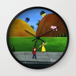 Hilly High Wall Clock
