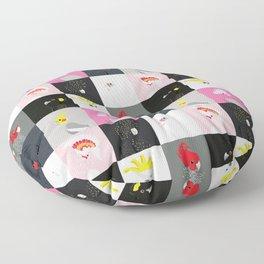Australian cockatoos tile pattern Floor Pillow
