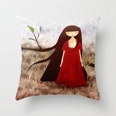 Branch Hair Throw Pillow
