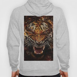 Angry Tiger Breaking Glass Yelow Hoody