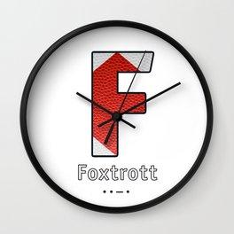 Foxtrott - Navy Code Wall Clock