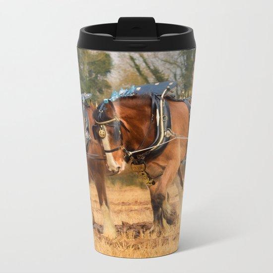 Work Horses Metal Travel Mug