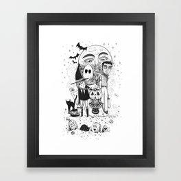 Halloween toothache Framed Art Print