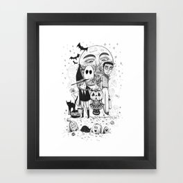Halloween toothache Framed Art Print