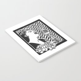 Lady Day (Billie Holiday block print blk) Notebook