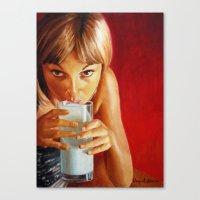 milk Canvas Prints featuring Milk by Raquel García Maciá