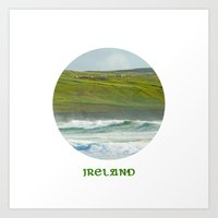 ruben ireland Art Prints featuring Ireland by Dustin Hall