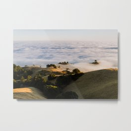 Sky Below - Mount Tamalpais Metal Print