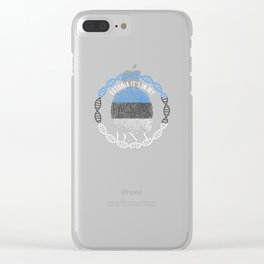 Estonia Its In My DNA Clear iPhone Case
