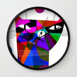MOSAIC CAT Wall Clock
