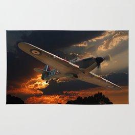 A Fighter Plane Returns Home Rug