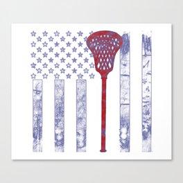 Lacrosse Flag Canvas Print