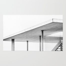 Architectural Study in White Rug