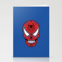 superheros Stationery Cards featuring Spidey Sugar Skull by Clark Street Press