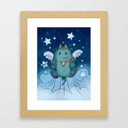 Twinkle Toes the Happy Chaos Monster Framed Art Print