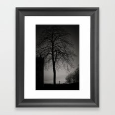 silhouette at Durham Cathedral Framed Art Print