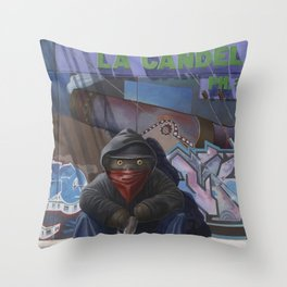 Gangsta Teddy - Aftermath Throw Pillow