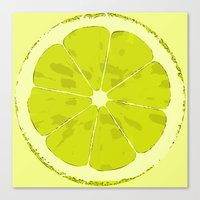 lime Canvas Prints featuring Lime by Avigur