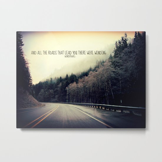 WINDING ROADS ON HWY 101  Metal Print