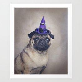 Peppa Pug Hates Halloween Art Print