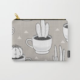 cactus on linen Carry-All Pouch