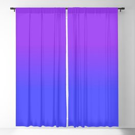 Neon Blue and Bright Neon Purpel Ombré Shade Color Fade Blackout Curtain