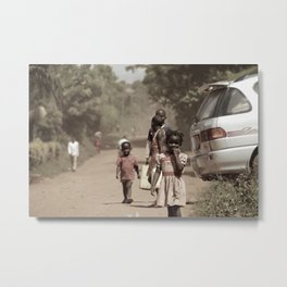 The Dusty Road Metal Print