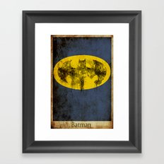 Bat Logo Framed Art Print