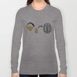 My brain runs on coffee Long Sleeve T-shirt