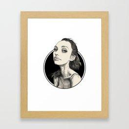 Arina Black Circle Framed Art Print