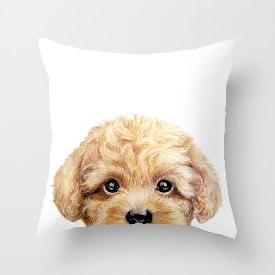 Toy poodle Dog illustration original painting print by miartdesigncreation