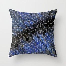 night sky cubed Throw Pillow