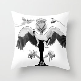Lovely statue. Throw Pillow