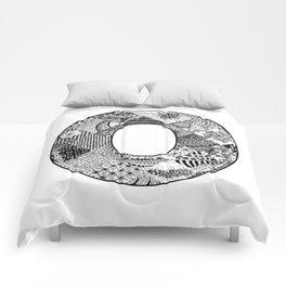 Cutout Letter O Comforters