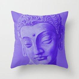 Siddharta Gautama violet Throw Pillow