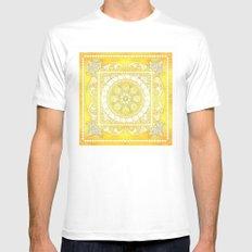 Golden Henna Mandala Mens Fitted Tee White MEDIUM