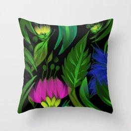 Floral,tropical design Throw Pillow