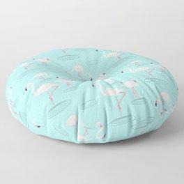 Flamingos in Water Floor Pillow