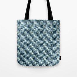 Blue Teal Shibori Tote Bag