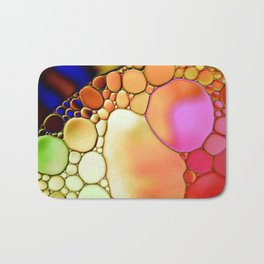 """""""Stained Glass Orbs"""" - Oil and Water Bath Mat"""