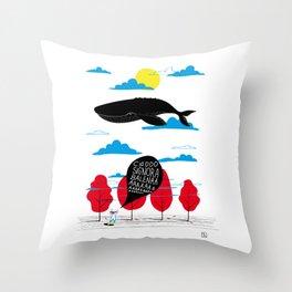 CIAO SIGNORA BALENA Throw Pillow