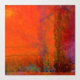 Orange Study #3 Digital Painting Canvas Print
