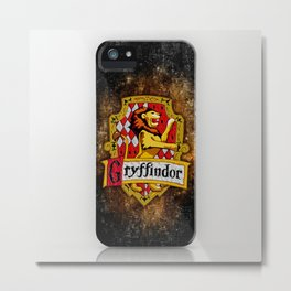 Gryffindor team flag iPhone 4 4s 5 5c, ipod, ipad, pillow case, tshirt and mugs Metal Print
