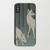 wolves iPhone & iPod Cases featuring Wolves by James White