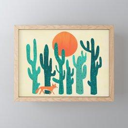 Desert fox Framed Mini Art Print