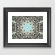 Point The Icicles Framed Art Print