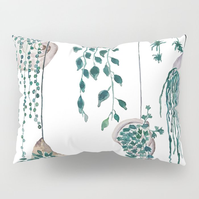 hanging plant in seashell Pillow Sham